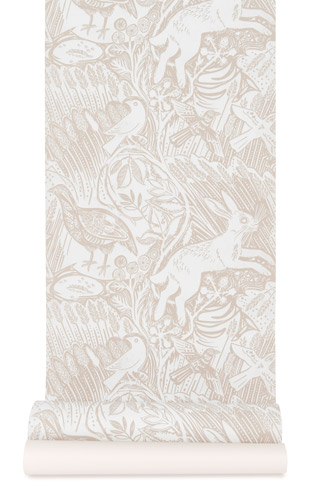 St. Judes Harvest Hare Wallpaper(Chalk White)