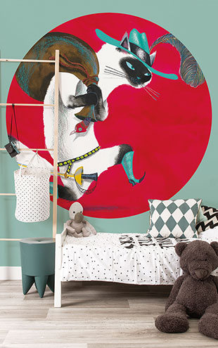 KEK Amsterdam / KIDS / WALLPAPER CIRCLES THE BOOTED CAT CK-020