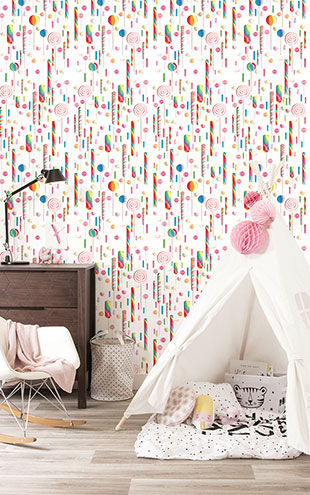 KEK Amsterdam / KIDS / WALLPAPER LOLLIPOPS WP-021