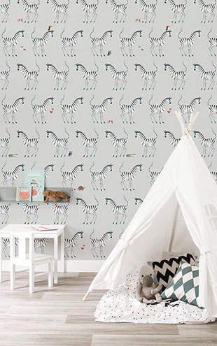 KEK Amsterdam / FIEP WESTENDORP / WALLPAPER ZEBRA GREY WP-126