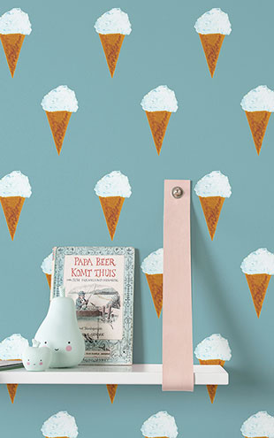 KEK Amsterdam / FIEP WESTENDORP / WALLPAPER ICE CREAM PETROL WP-130