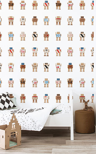 KEK Amsterdam / KIDS / WALLPAPER RIJKSWACHTERS WHITE WP-411