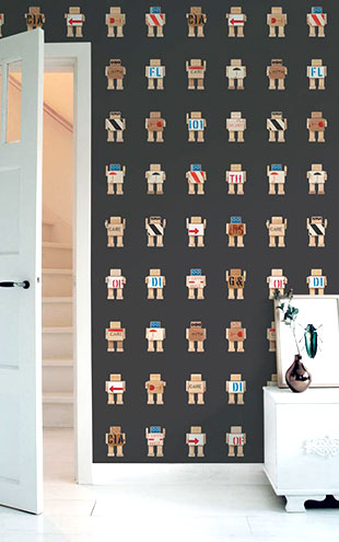 KEK Amsterdam / KIDS / WALLPAPER RIJKSWACHTERS BLACK WP-418