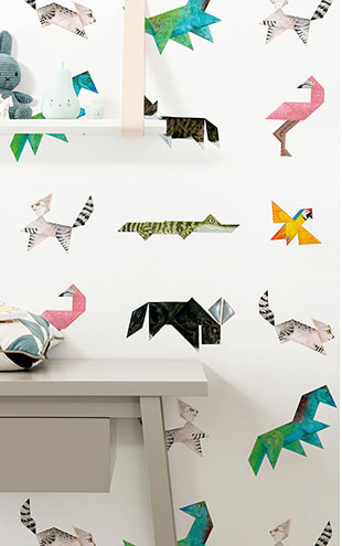 KEK Amsterdam / KIDS / WALLPAPER TANGRAM ANIMALS WP-421