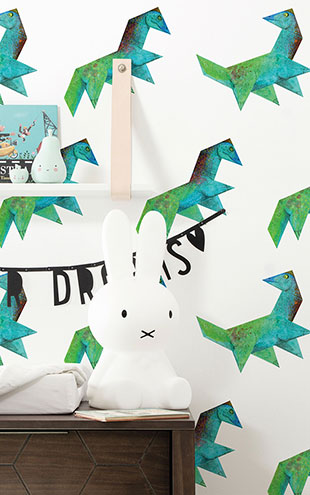 KEK Amsterdam / KIDS / WALLPAPER TANGRAM DINO WP-423