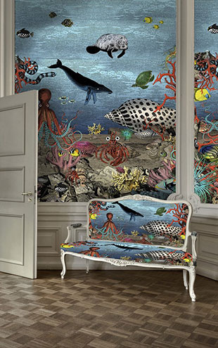 KRISTJANA S WILLIAMS STUDIO / The Great Barrier Reef Wall Mural WAP0035【4パネル1セット】