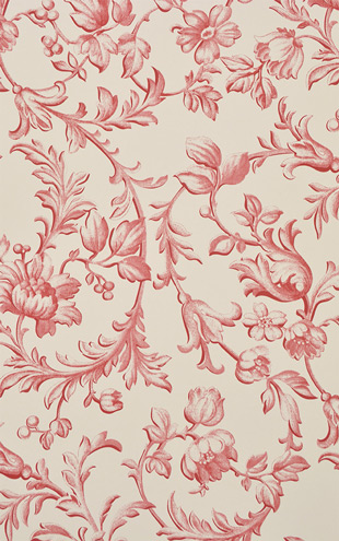 Laura Ashley / Ironwork Scroll Cranberry LA17037