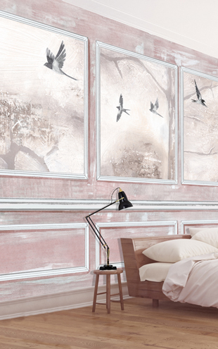 Louise Body Panelled Wall & Birds CoralPanelled Wall & Birds Coral