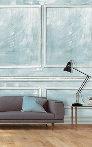 Louise Body Panelled Wall BluePanelled Wall Blue