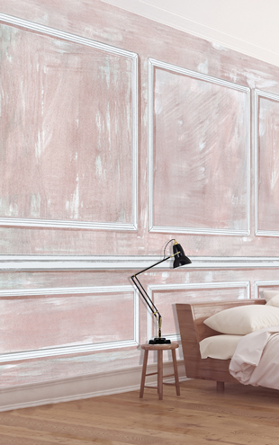 Louise Body Panelled Wall CoralPanelled Wall Coral