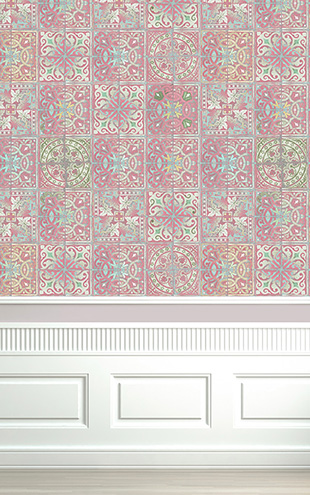 Louise Body / Paper Tiles Patchwork Dusty Pink