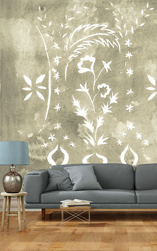 Louise Body Stencilled Wall SandStencilled Wall Sand