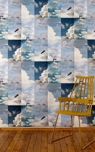 Little Owl Design / Dutch SKY WALLPAPER SUMMER BLUE