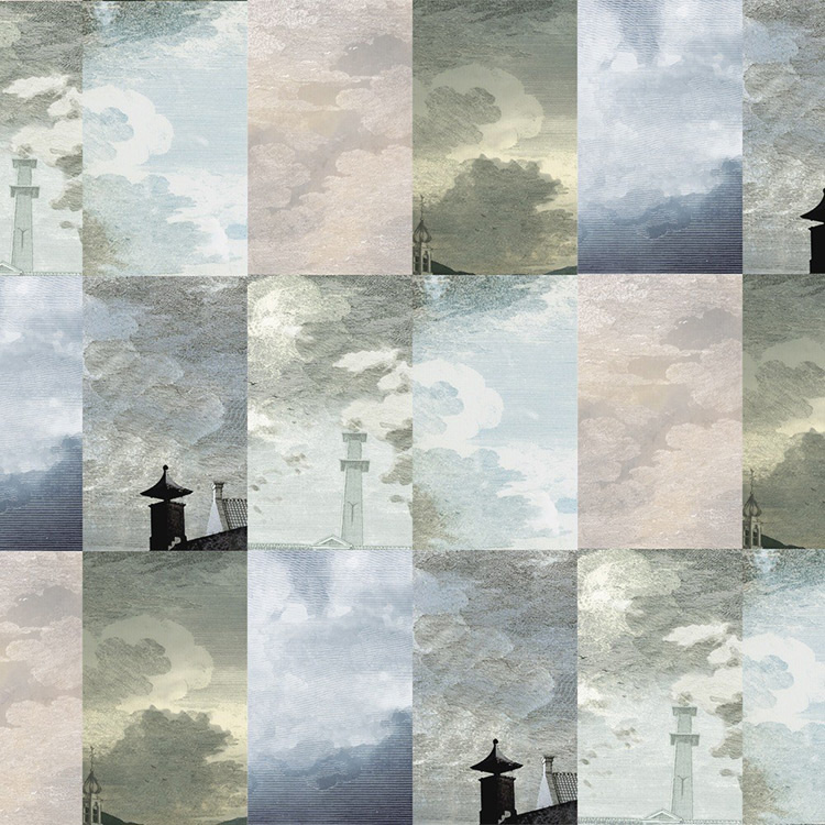 Little Owl Design / Dutch SKY WALLPAPER STORM GREY