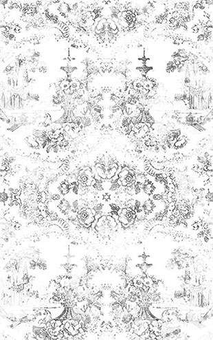 mineheart / Almost White Delft Baroque Wallpaper