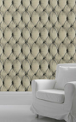mineheart / Chesterfield Button Back Wallpaper cream