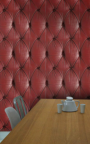 mineheart / Chesterfield Button Back Wallpaper red