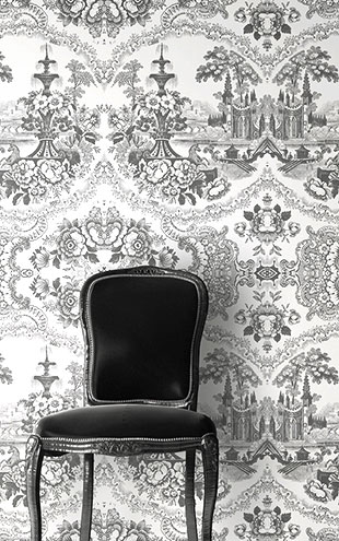 mineheart / Delft Baroque Wallpaper - Black