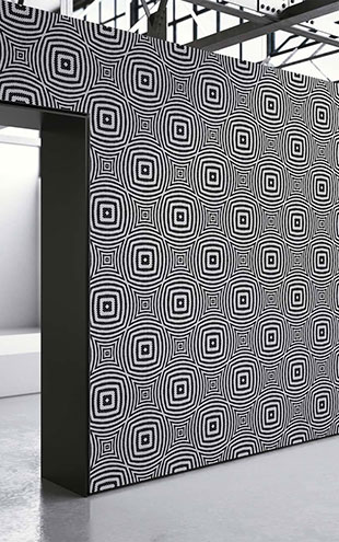 mineheart / Black Geometric Circles Wallpaper