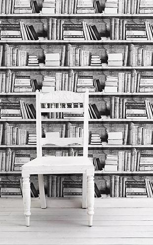 mineheart / Photocopy Bookshelf Wallpaper