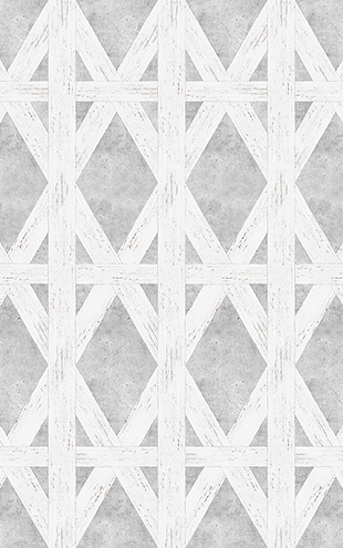 mineheart / White Tudor Wallpaper