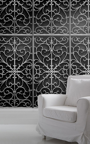 mineheart / Wrought Metal Gate Wallpaper