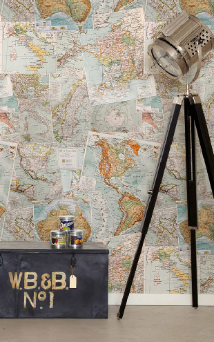 Kemra Vintage French Maps / KEM023W
