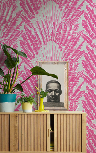 KINGDOM HOME Feather Palm KH028 Pink Breeze