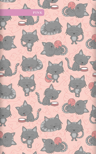 Muffin&Mani Cat Wall pink / mm0204w-P