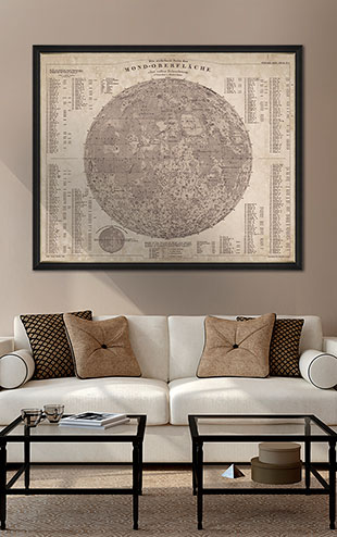 MINDTHEGAP WALL ART / Map of the Moon 1880  FA12206