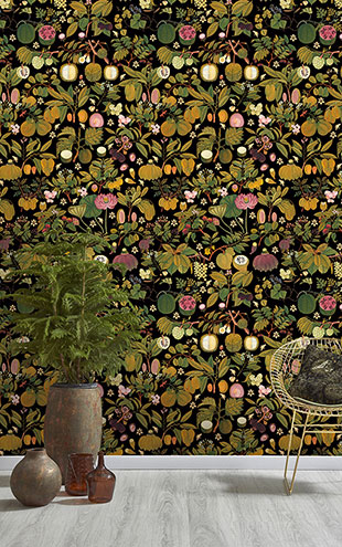 Mind the Gap / ASIAN FRUITS AND FLOWERS Anthracite WP20314