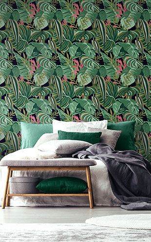 Mind the Gap / TROPICAL FOLIAGE Anthracite WP20366