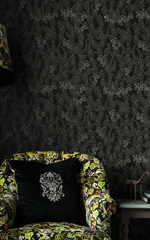 Mind the Gap / LSC / TRANSYLVANIAN MANOR WALLPAPER COLLECTION / DARK LEAVES WP20458
