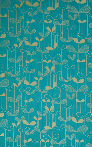 MissPrint Collection1 Saplings Turquoise with Gold MISP1012