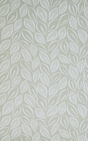 MissPrint Collection1 Leaves Dove Grey with White MISP1028