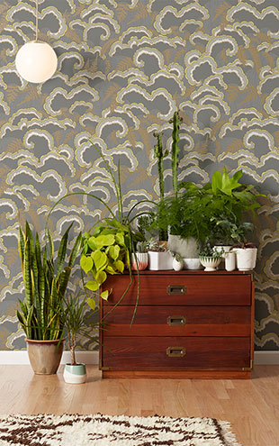 Makelike /  Lush Wallpaper Dark Grey