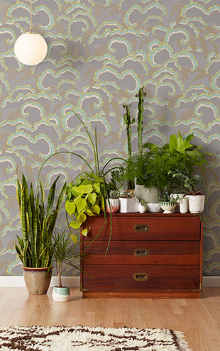 Makelike /  Lush Wallpaper Light Grey