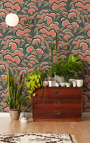 Makelike /  Lush Wallpaper Red
