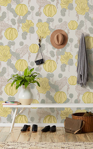 Makelike /  Succulent Wallpaper Yellow