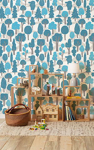Makelike /  Zig Zag Wallpaper Bright Blue