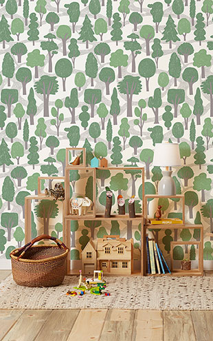 Makelike /  Zig Zag Wallpaper Green