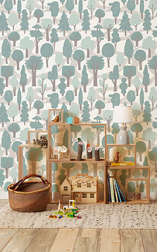 Makelike /  Zig Zag Wallpaper Light Blue