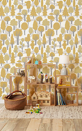 Makelike /  Zig Zag Wallpaper Ocher