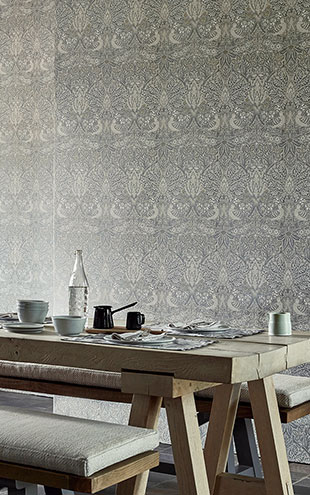 PURE MORRIS NORTH WALLPAPERS / Pure Dove & Rose 216520