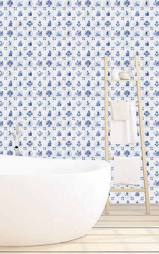 Royal Delft by Nicolette Mayer ロイヤル・デルフト / Royal Delft Tile Play