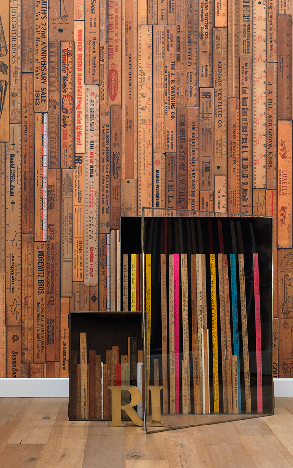 NLXL LAB PRINTED RULERS WALLPAPER BY MR & MRS VINTAGE / Small