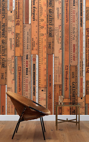 NLXL LAB PRINTED RULERS WALLPAPER BY MR & MRS VINTAGE / Large