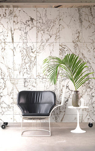 MATERIALS WALLPAPER by Piet Hein Eek WHITE MARBLE WALLPAPER / PHM-41A