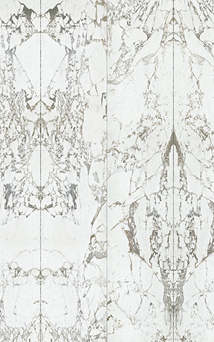 NLXL MATERIALS WALLPAPER BY PIET HEIN EEK WHITE MARBLE WALLPAPER / PHM-40A&PHM-40B (2本セット)