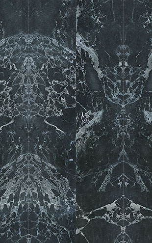 NLXL MATERIALS WALLPAPER BY PIET HEIN EEK BLACK MARBLE WALLPAPER / PHM-50A&PHM-50B (2本セット)